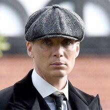 6 couleur haute qualité laine Tweed casquette gavroche pour hommes femmes chevrons 8 panneau Apple casquettes Cabbies chapeaux laine casque béret
