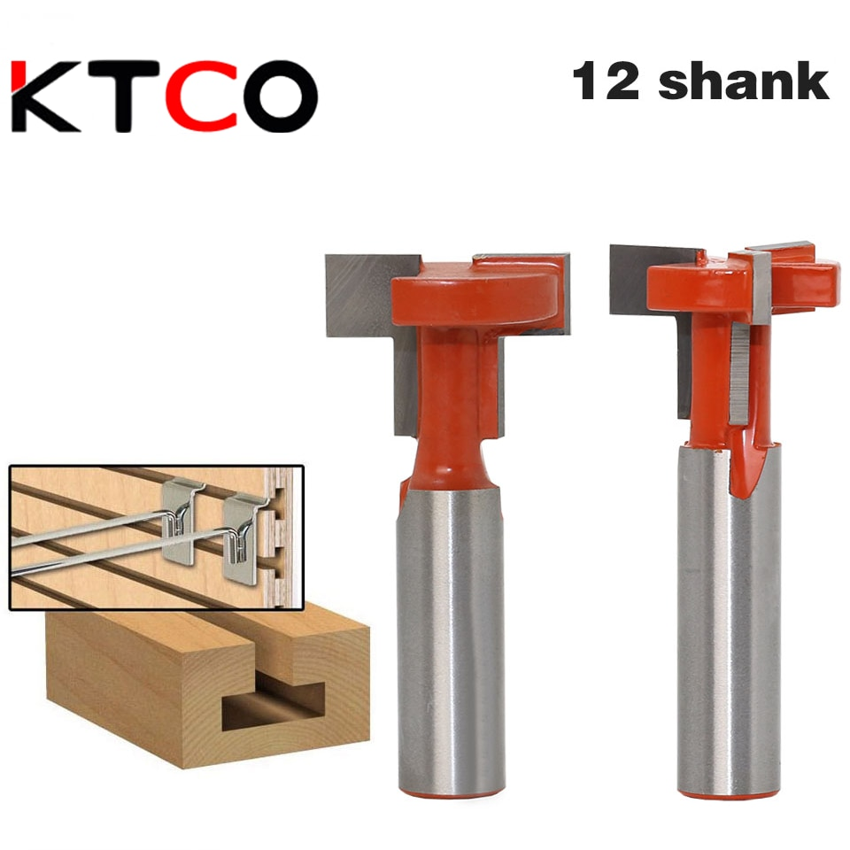 KTCO 12mm Shank Top Quality T-Slot & T-Track Slotting Router Bit For Woodworking Chisel Cutter