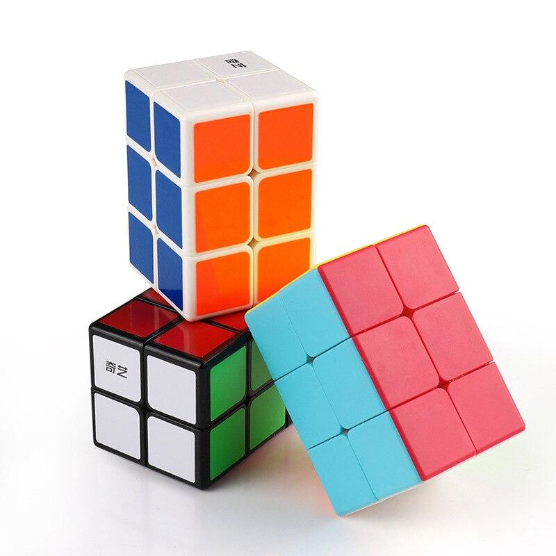 Qiyi 2x2x3 cubo mágico cubos alienígenas jogo exercício o cérebro jogo de velocidade profissional brinquedo suave adulto presente das crianças