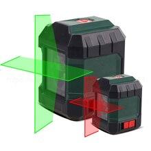 مستوى الليزر الذاتي التسوية الأفقي والرأسي عبر خط أحمر/أخضر شعاع المحمولة جهاز القياس بناء الغبار الصغيرة