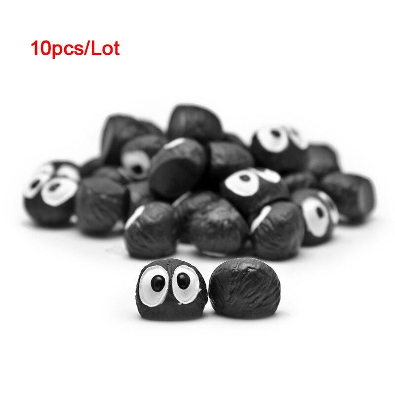 10 unids/lote mi vecino Totoro polvo elfos negro briquetas Mini de resina figuras de paisaje manualidades decorativas