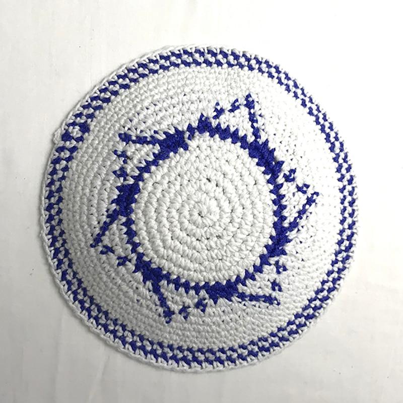 Jewish Kippah Black Hand Made Yarmulke Judaica Yamaka Kippa Yamakah Yarmulka Hat Men Or Kids (14CM 5