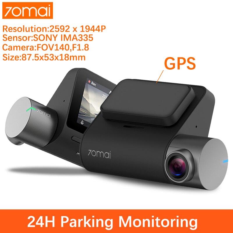 70mai dash cam 1944P GPS ADAS מצלמת רכב car camera 70 mai Dashcam car dvr קול שליטה 24 HParking צג 140FOV ראיית לילה    דגם אפליקציה חכמה, מצלמה מצלמה לרכב car full hd dvr camera מצלמה רכב