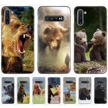 Bear Animal Giant Case for Samsung Galaxy S10e S10 5G S9 S8 S7 Plus Note 10 + 9 8 Black Silicone Bolso Phone Coque Sac Fundas