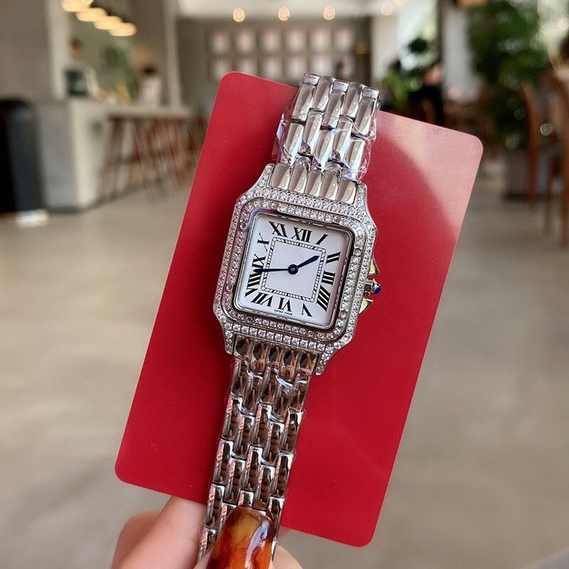 Top Brand C Luxury Fashion Stainless Steel Ladies Watch Swiss Quartz Roman Sapphire Leopard Exquisite Couple Gift Women Watch enlarge