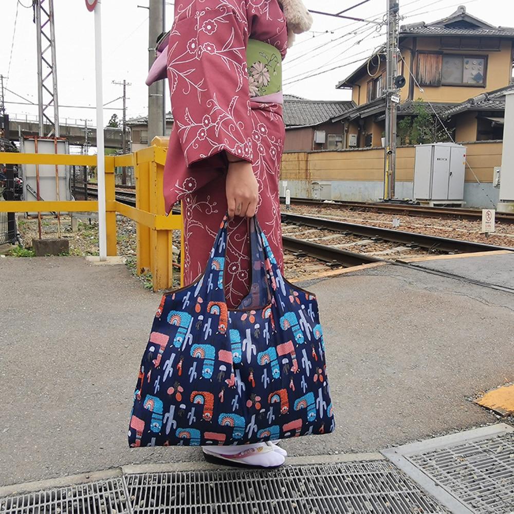 Bolsos para compras reutilizables plegables impermeables, bolsa de mano, bolsas reciclables, bolso de hombro de gran capacidad para bolsas de viaje