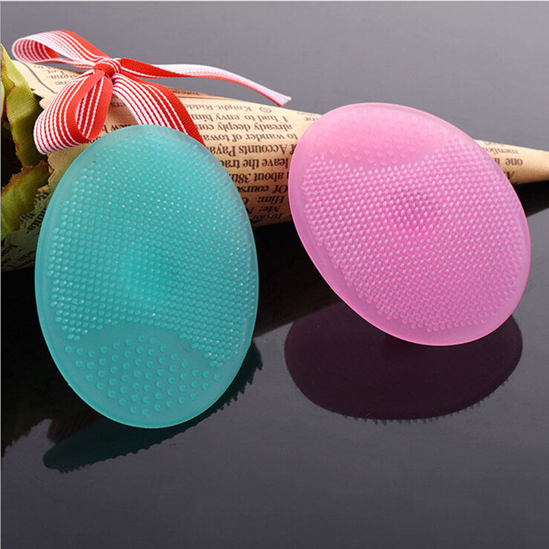 1pc Silicone Beauty Washing Pad Facial Exfoliating Tool Soft Deep Cleaning Face Brushes Blackhead Face Cleansing Brush TC211Z1C недорого