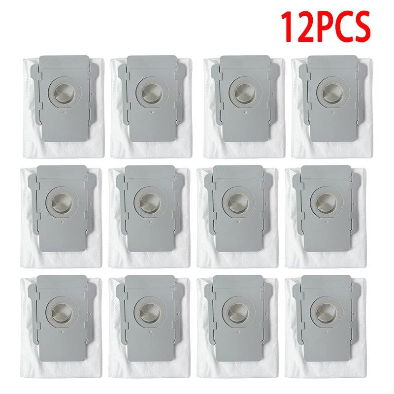 12 قطعة مجموعة متعددة الترابية التخلص استبدال أكياس ل iRobot Roomba i7 i7 + E5 E6 E7 s9 s9 + نظيفة قاعدة مكنسة كهربائية أجزاء كيس لجميع الغبار