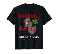 Machen Ohio Große Wieder Bauen EINE Wall State Geschenk T Shirt Druck Casual T Shirt Männer Tees Heißer 2019 Mode