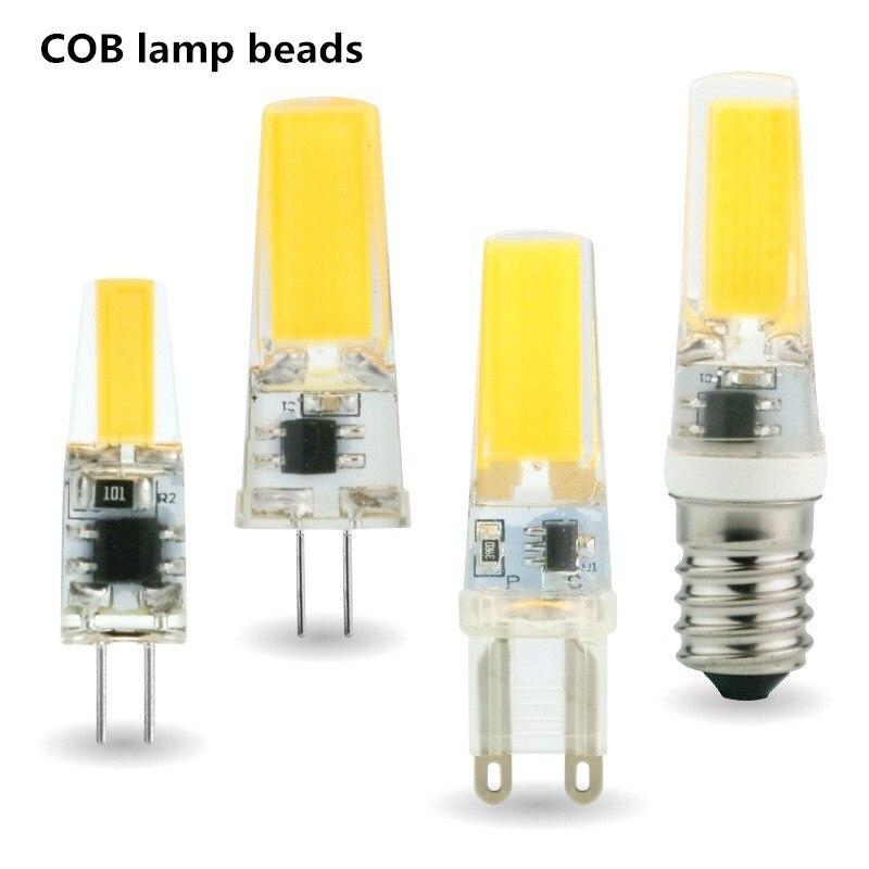 1 Uds LED G4 G9 E14 3W 6W bombilla de luz AC/DC 12V 220V luz LED Spotlight reemplazar lámparas halógenas frío/blanco cálido