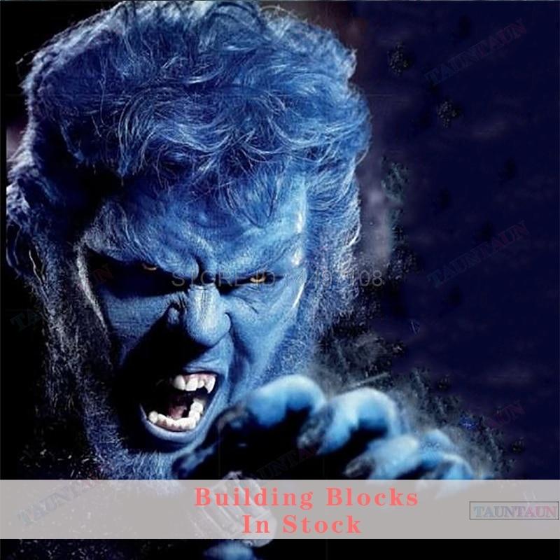 Конструкторы Beast профессора X-Men Темный Феникс Хэнк Росомаха Джаггернаут танос Марвел Мстители Endgame Халк фигурки блоки детские игрушки