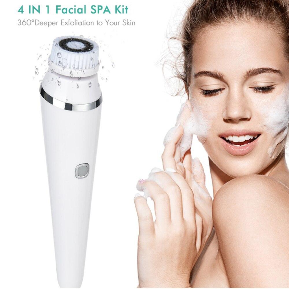 3 In 1 Gezichtsreiniging Borstel Roller Massager Diepe Reiniging, Roterende Zachte Peeling Massage Elektrische Gezicht Borstel 5
