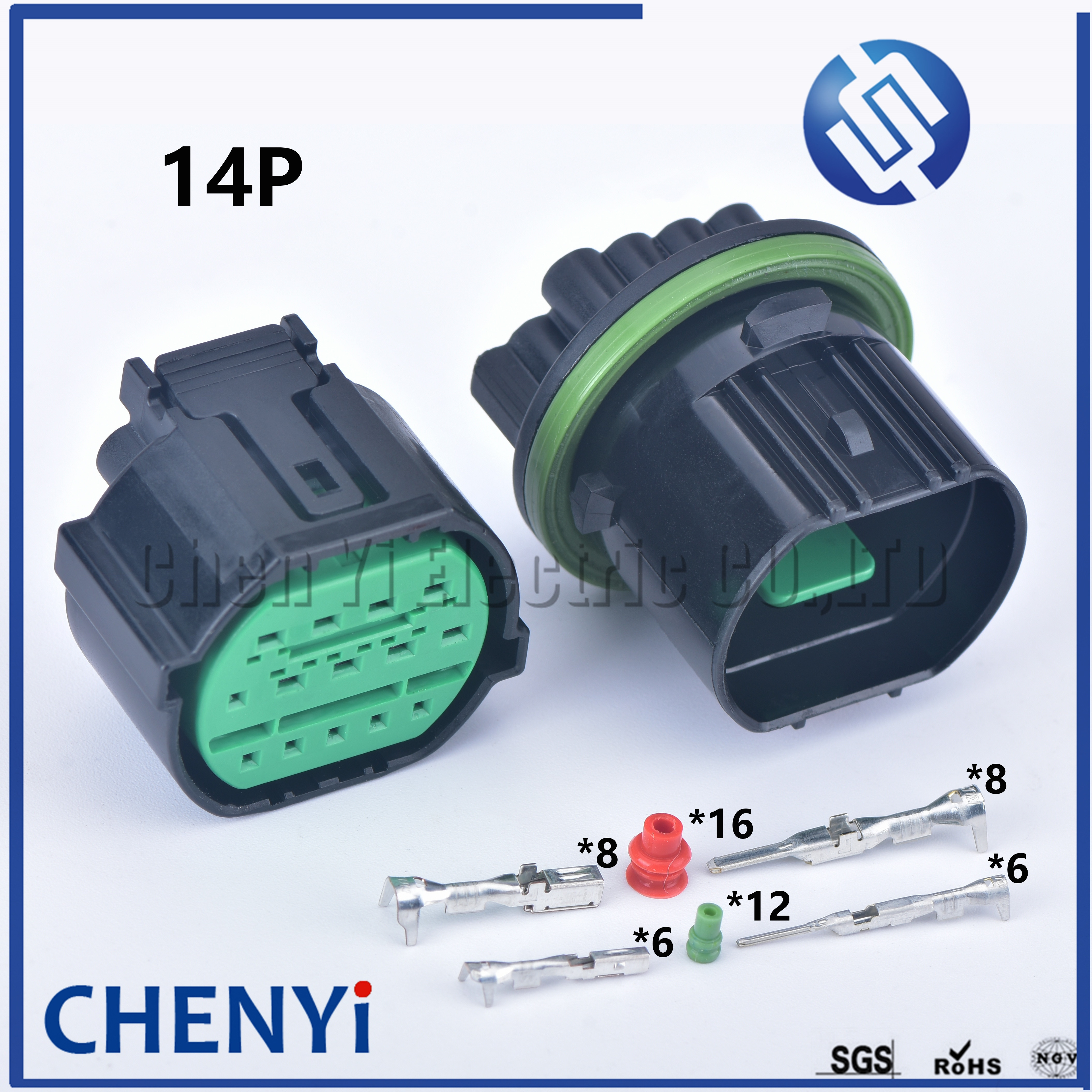 1 conjunto de 14 pinos GL301-14021 macho feminino plugue do farol automático à prova delectriágua elétrica soquete carro lâmpada luz conector para kia k2 k3 k5