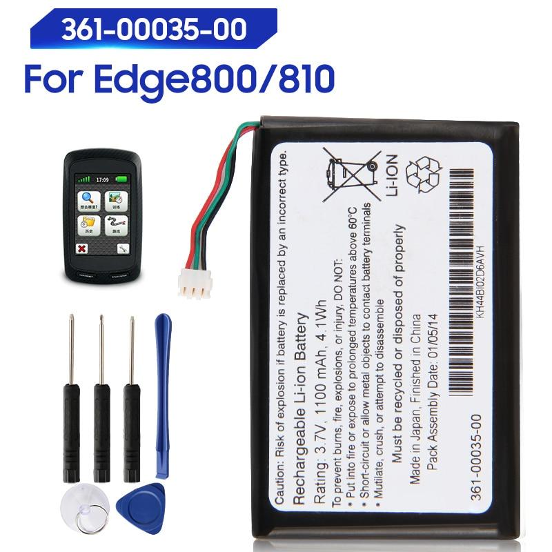 Оригинальный Сменный аккумулятор для Garmin Edge 800 810 361-00035-00 361-00035-07 361-00035-03, оригинальный аккумулятор 1100 мАч