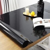 black tablecloth manteles transparent waterproof kitchen table protective table cover oil proof glass soft cloth table cloth 1 0