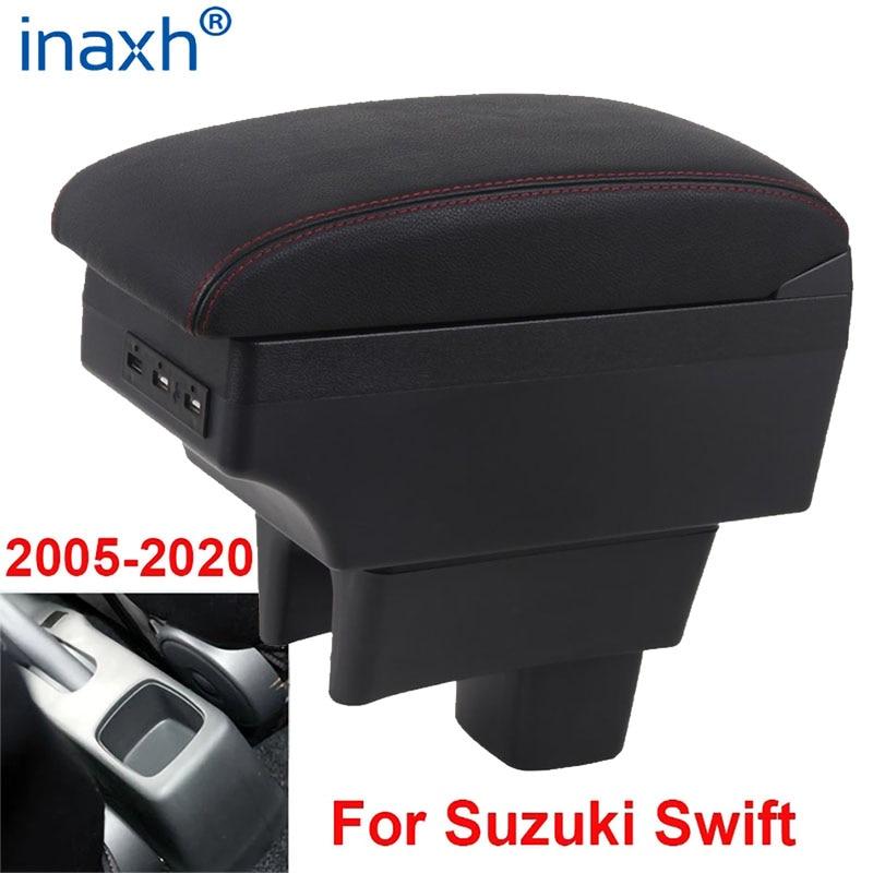 For Suzuki Swift Armrest Box 2005-2019 Car Armrest car accessories interior storage Box Retrofit parts USB 2011 2014 2017 2018
