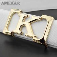high quality k designer belts mens letter casual genuine fashion waist strap leather off white cintos masculinos ceinture homme