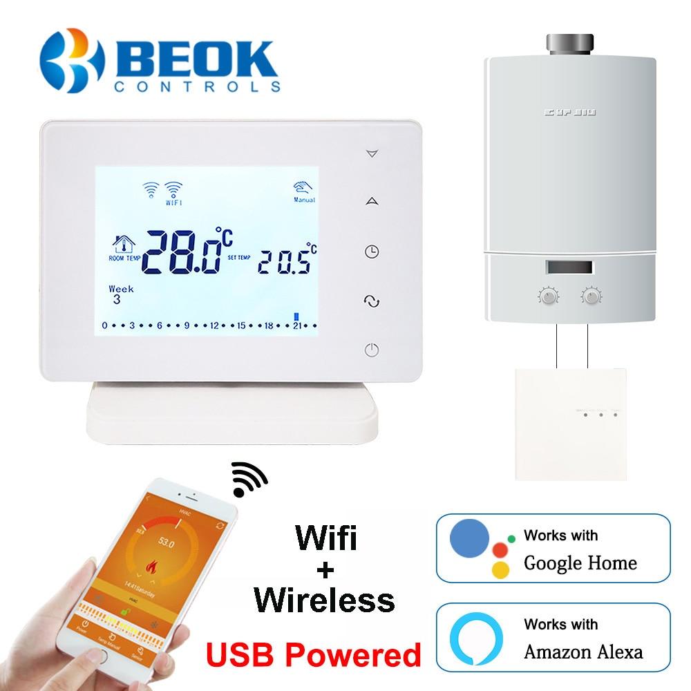 Beok BOT306RF-WIFI اللاسلكية Wifi ترموستات للغاز المرجل الذكية Termostat درجة الحرارة تحكم دعم جوجل المنزل اليكسا