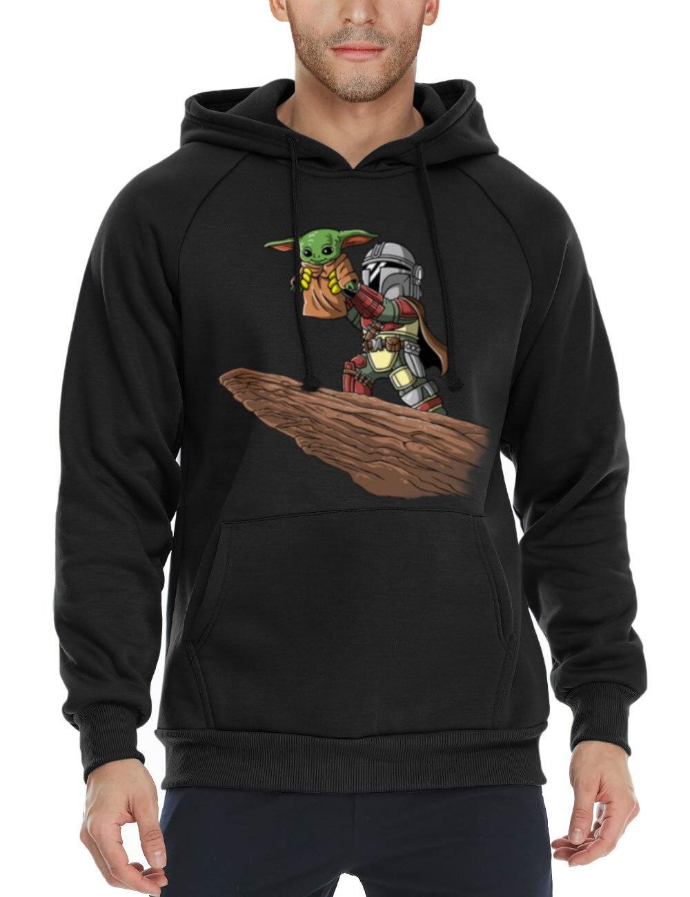 Pequeño Yoda mandaloriano Fan de Star Wars, regalo de los hombres Sudadera con capucha imprimir camisetas de hombre abrigo
