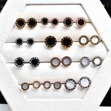 YUN RUO Rose Gold Black Roman Number Stud Earring Woman Man Titanium Steel Fashion Jewelry Birthday Gift Not Fade Hypoallergenic