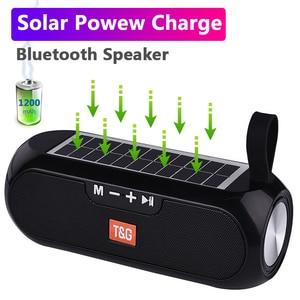 Солнечная зарядка Bluetooth Колонка Портативная колонка Беспроводная стерео Музыкальная Коробка громкий динамик открытый водонепроницаемый а...