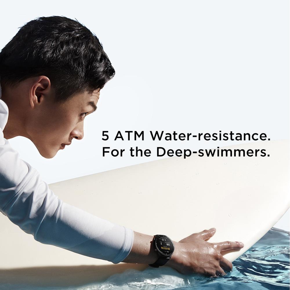 Новый Amazfit GTR 2 Smartwatch 14 дней Срок службы батареи 5ATM уверенно время Управление мониторинг сна Смарт часы для телефонов на Android iOS-5