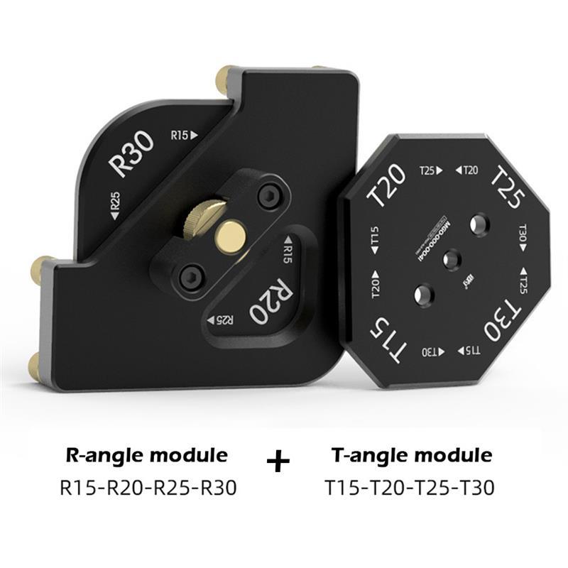 8 in 1 Aluminum Alloy Corner Jig Template for Router/Trimmer R10 R15 R20 R30 T15 T20 T25 T30 Round Corner Radius Locator Jig