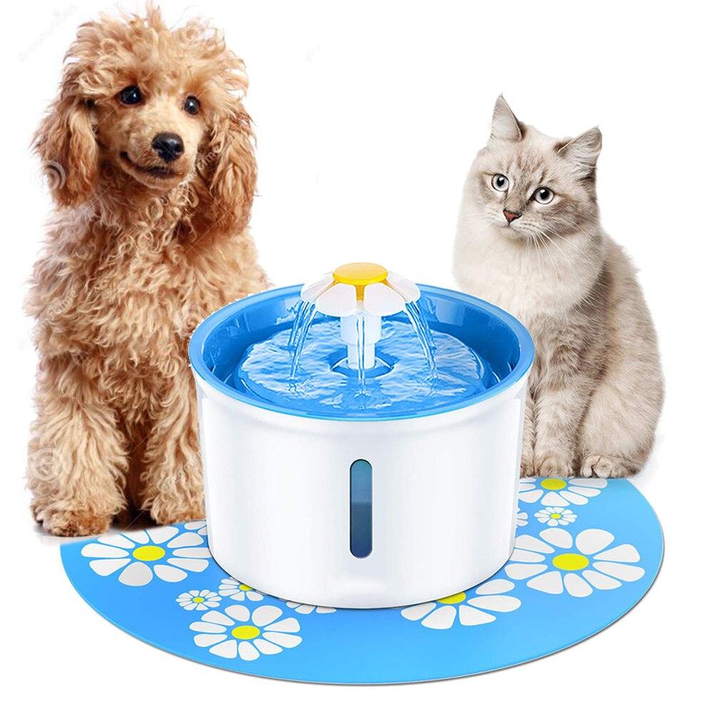 نافورة اوتوماتيكية للقطط والكلاب سعة 1 ، 6 لتر ، موزع مياه للحيوانات الأليفة ، رعاية صحية للكلاب والقطط