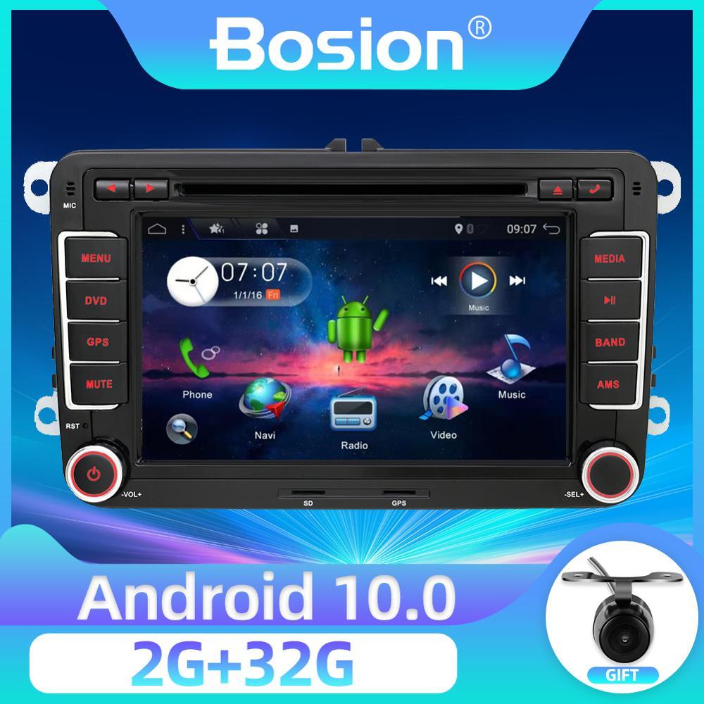 Bosion PX6 2din auto gps Android 10 auto dvd player Für Volkswagen Skoda POLO GOLF 5 6 PASSAT CC TIGUAN TOURAN Fabia Caddy 4G 64G