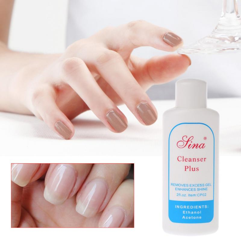 60ml Liquid Removes Excess Gel Enhances Shine Cleanser Cleansing Gel Remover Solvent Cleaner UV Nail