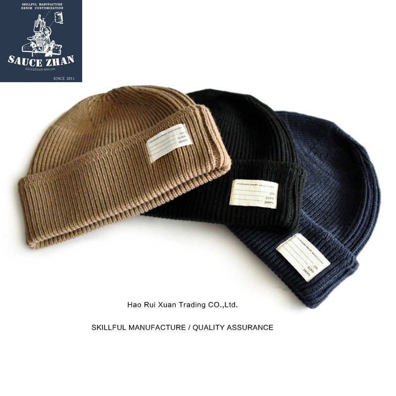 SauceZhan, Segunda Guerra Mundial, sombrero para el frío, aire, lana, gorro de lana de punto, melón, señoras, sombrero de fieltro Vintage para hombres, tocados, sombrero negro