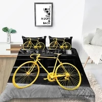 yellow bicycle bedding set full size 3d print creative duvet cover vehicle double twin single queen king bed set lifelike