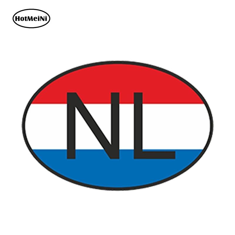 HotMeiNi 13cm x 9.1cm araba Styling Nl hollanda ülke kodu Oval bayrak araba Sticker su geçirmez tampon pencere aksesuarları