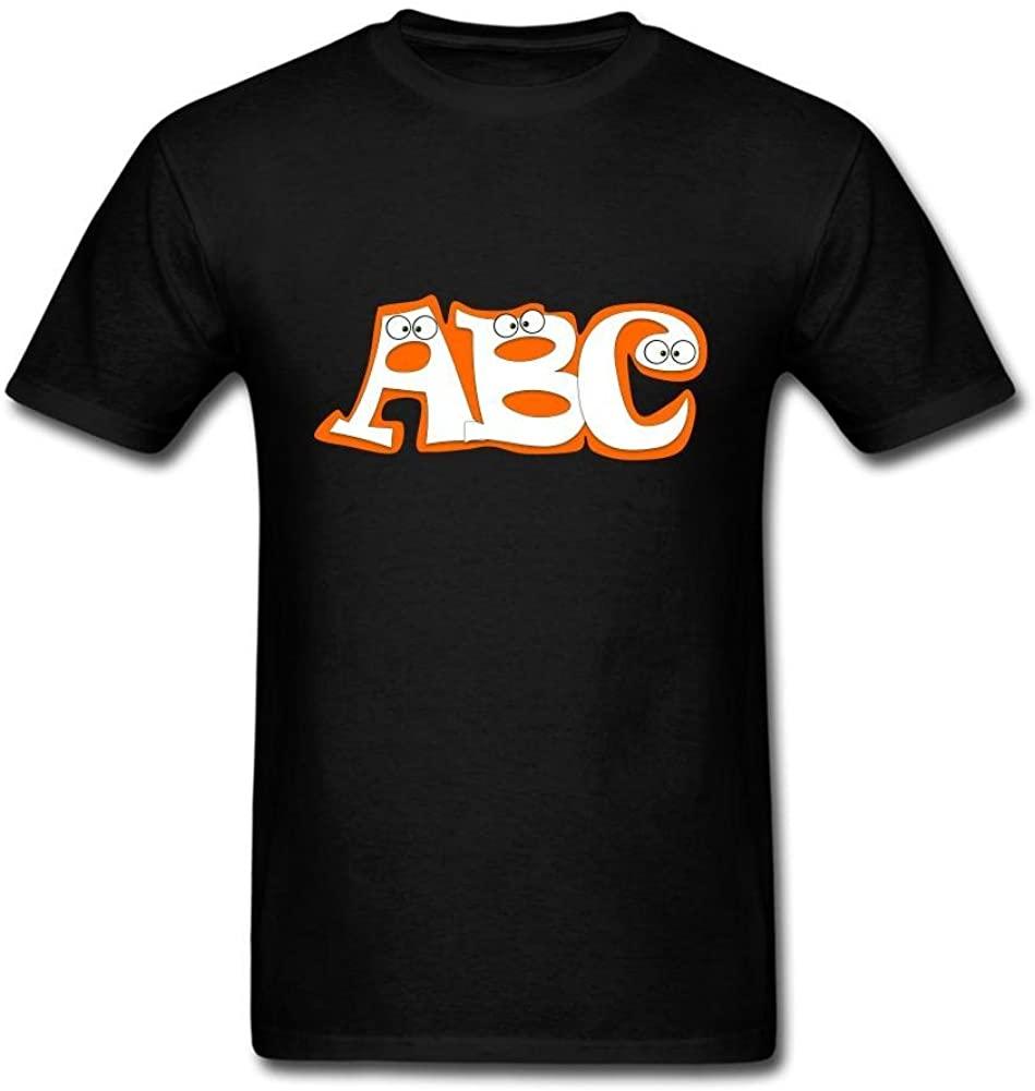 Camiseta de manga corta de Color con diseño de letras ABC bonitas...