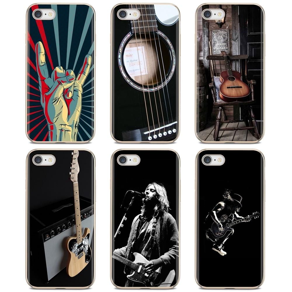 Para Xiaomi Mi A1 A2 A3 5X 6X 8 9t Lite SE Pro Mi Max Mix 1 2 3 2S guitarra rock música, dibujos animados, silicona delgada, cubierta de teléfono de TPU suave