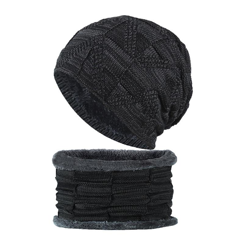 Новинка, модные осенне-зимние мужские разноцветные бархатные плотные вязаные шапки, теплые и удобные модные шапки с нашивками, нагрудник