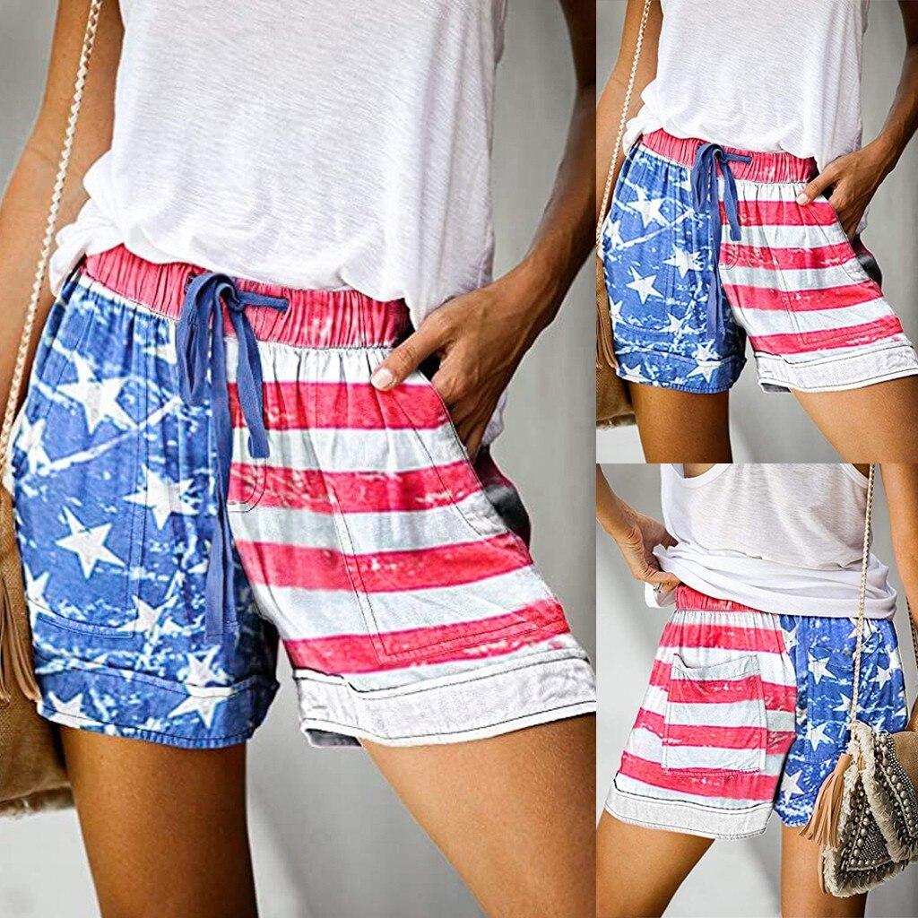 Pantalones cortos a la moda para mujer, shorts informales cómodos con cordón,...