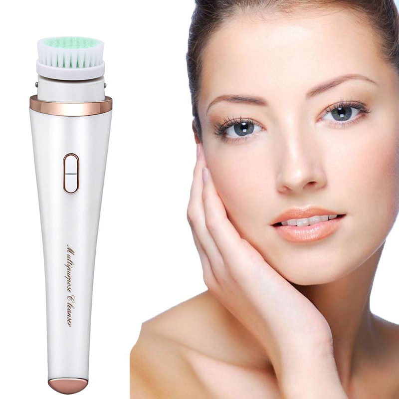 Electric Facial Cleansing Brush  Heating Deep Pore Clean Gentle Face Cleansing Machine Exfoliating Blackhead  Face Care Too