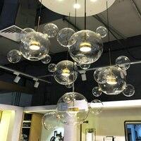 Modern Loft LED Glass Hanglamp Hanging Nordic Design Lamp Pendant Lights Fixtures for Kitchen Dining Room Home Deco