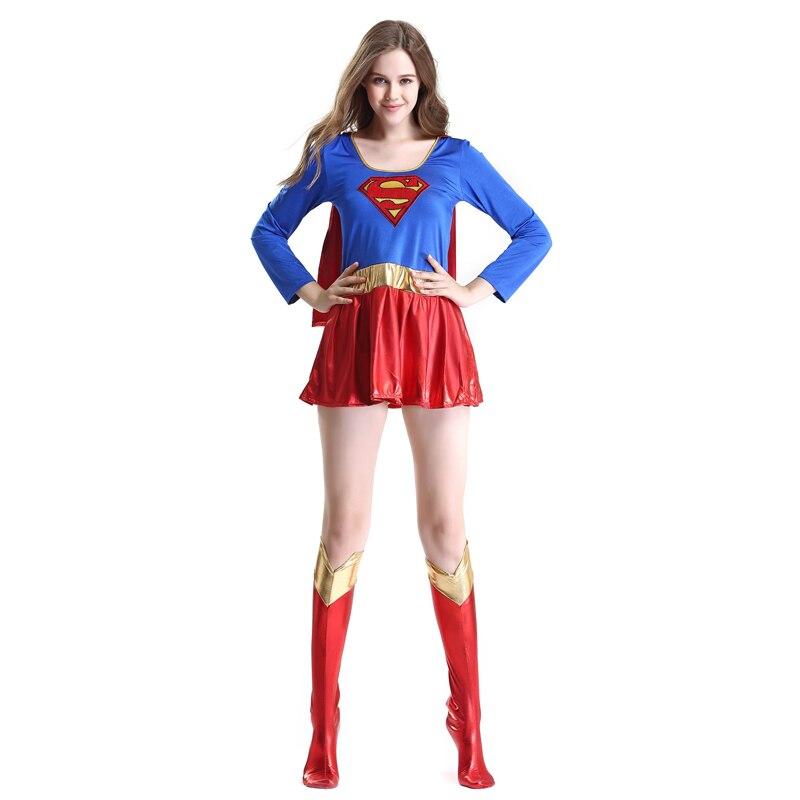Superwomen vestido cosplay trajes para meninas adultas super-herói halloween supergirls maravilha superman feminino para meninas traje engraçado