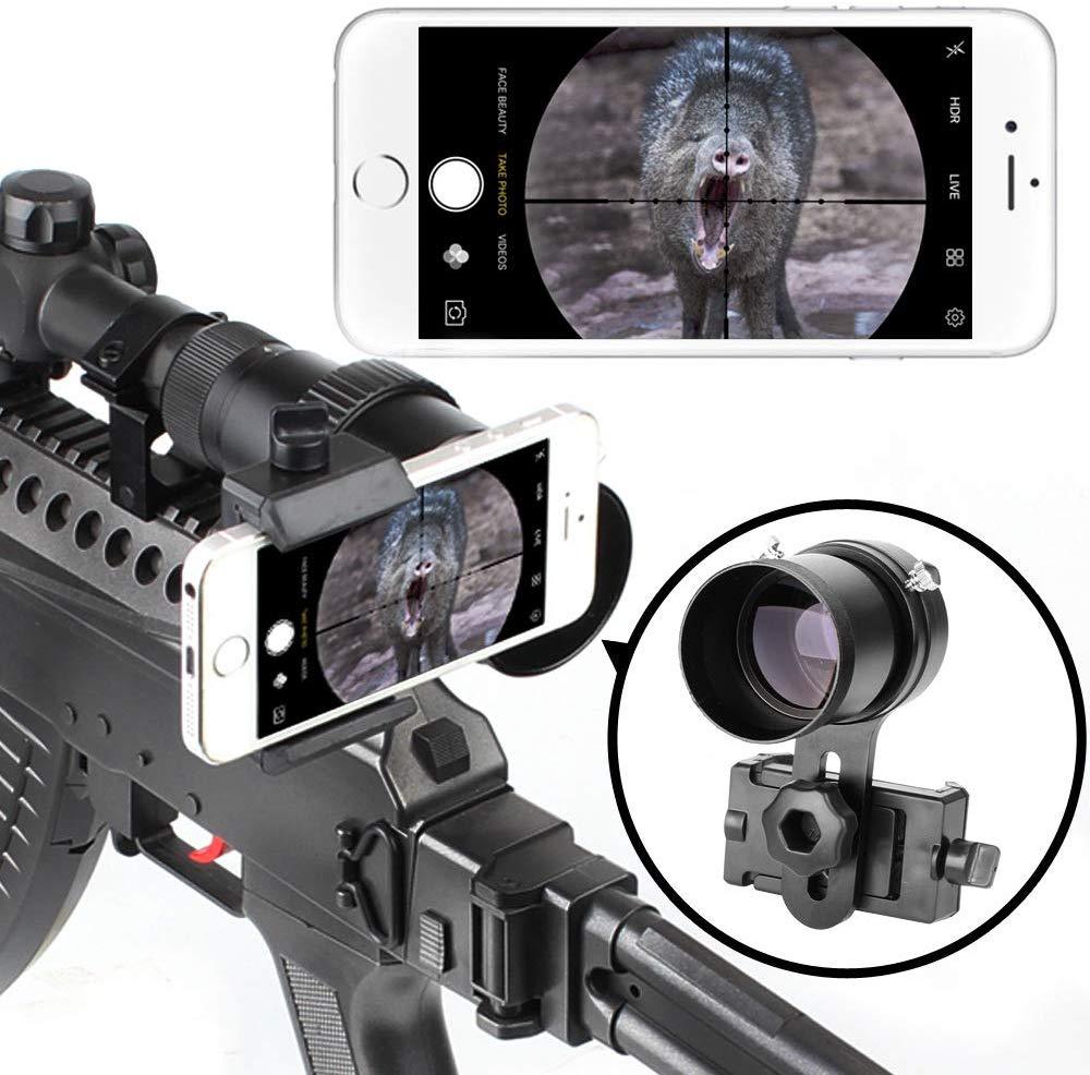 Système de montage de Smartphone de portée de fusil-adaptateur intelligent de bâti de portée de tir pour laffichage de portée dairgun de portée de pistolet avec le verre avancé