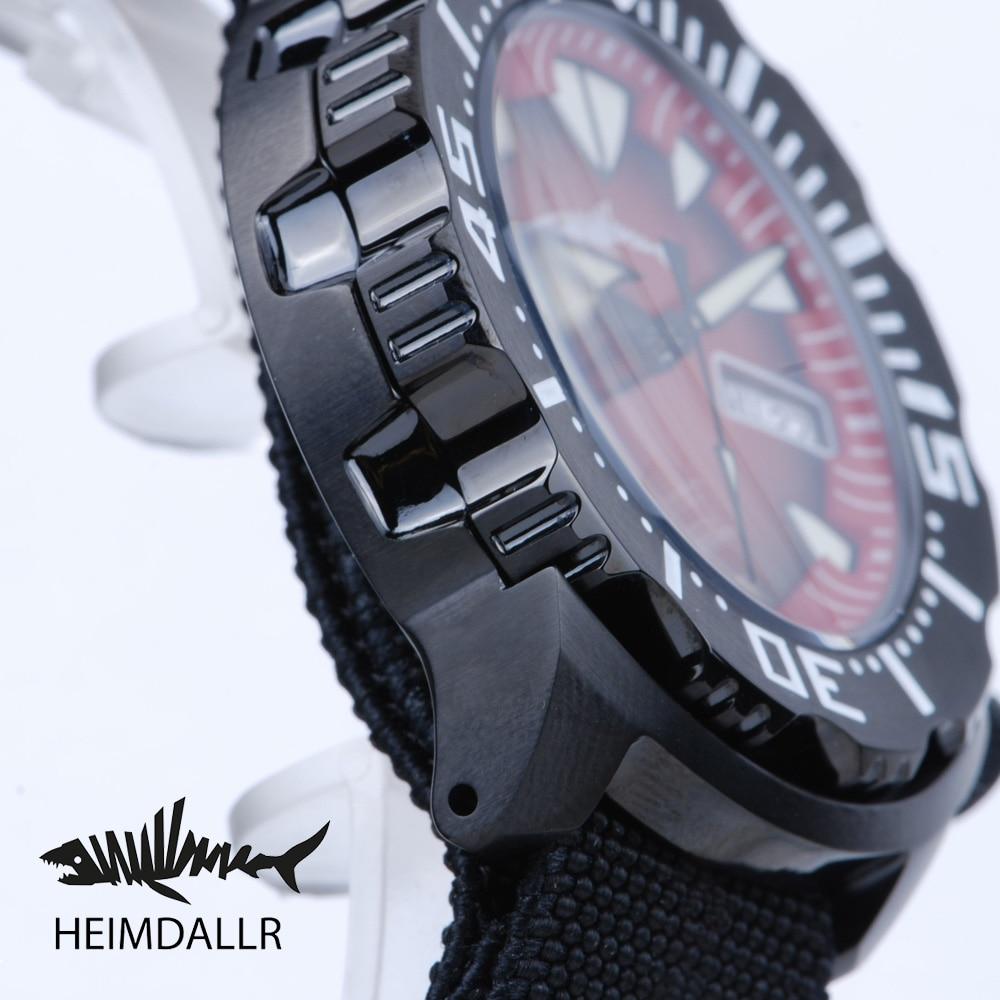 Heimdallr Monster Automatic Men Watch Gradient Luminous Dial Black PVD Coated Case NH36 Diving Watch 200M Mechanical Wristwatch enlarge