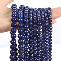 lapis lazuli loose beads natural gemstone smooth round for jewelry making