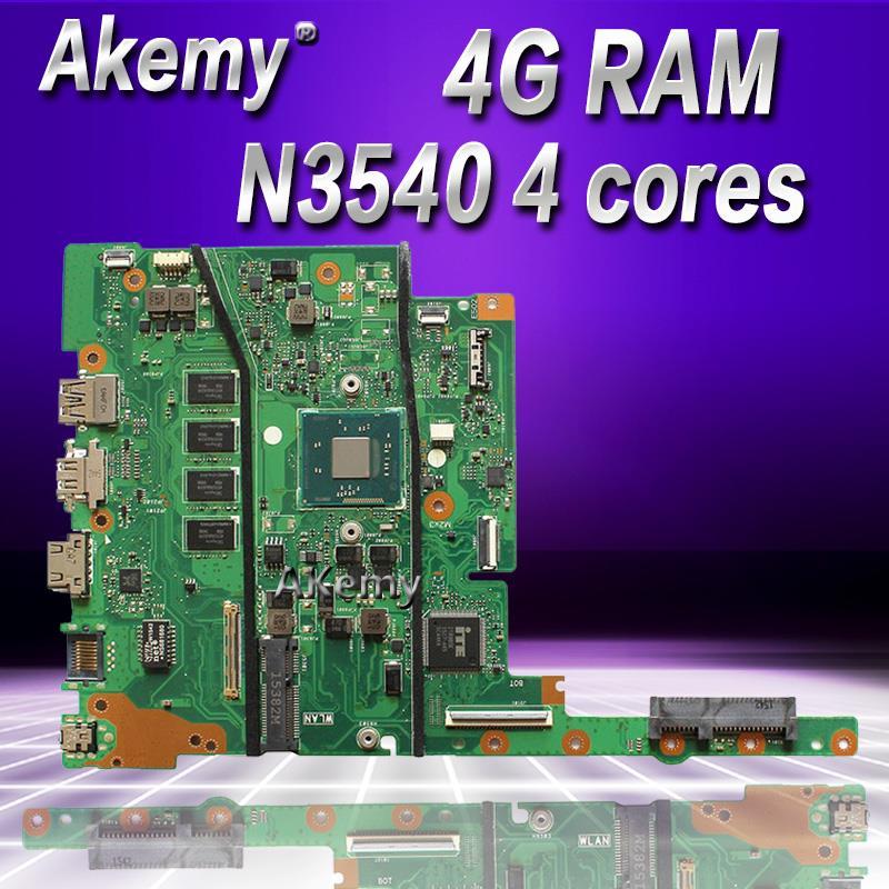 Akemy E402MA E502MA اللوحة لابتوب For Asus E402MA E502MA E402M E502M E402 E502 اختبار اللوحة الأصلية 4G RAM N3540 4 النوى