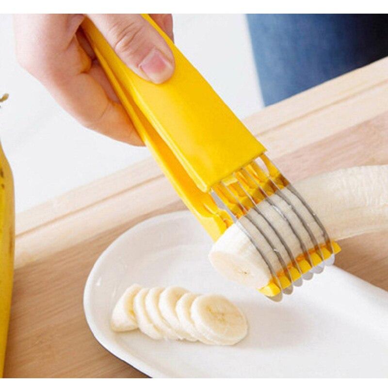 Домашний кухонный инструмент Овощечистка салат ломтик из нержавеющей стали, резак для бананов измельчитель фруктов резак нож для резки огу...