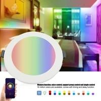 Spot lumineux rond led 5W 7W 10W  wi-fi  intelligent  intensite declairage Tuya  lumiere chaude et froide  changement de couleur  fonctionne avec Alexa Google Home