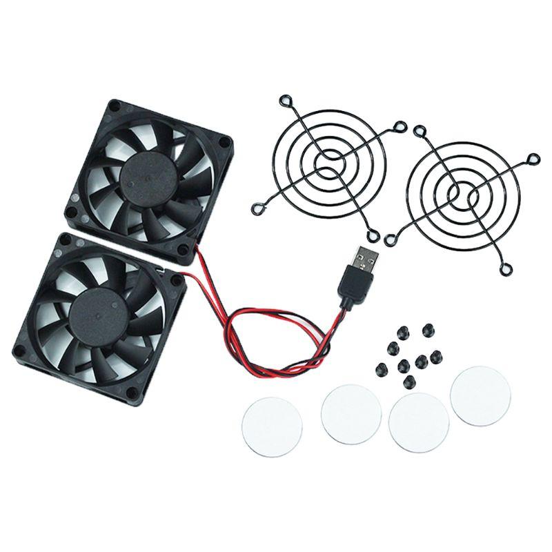 Ventilador de refrigeración con USB para enrutador ASUS RT-AC68U, AC86U, AC87U, R8000,...