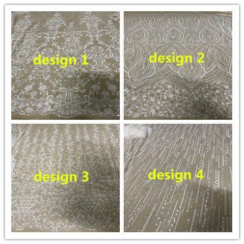 Tela líquida francesa do laço do bordado da tule elegante DiuDiu-10.5108 com grânulos para o vestido de festa