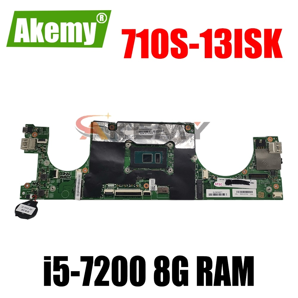 لوحة الأم لجهاز لينوفو 710S-13ISK xiaoxin air13, 448.0A701.0011 اللوحة الأم للكمبيوتر المحمول Lenovo 710S-13ISK xiaoxin air13 وحدة المعالجة المركزية i5 7200 8G RAM 100% ٪ اختبار الع...
