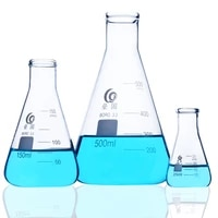 1pclot 50 2000ml straight small mouth glass erlenmeyer flask conical flask bottle glasstriangle flask for laboratory